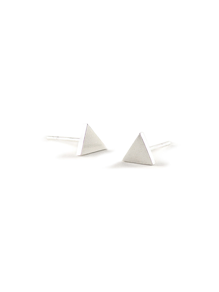 The Triangle Stud in Sterling Silver