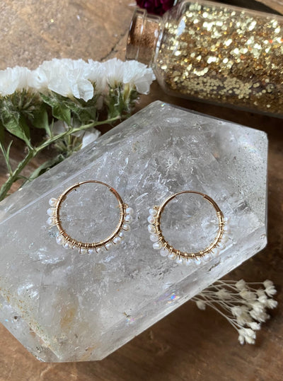 A Place on Earth Pearl Hoops