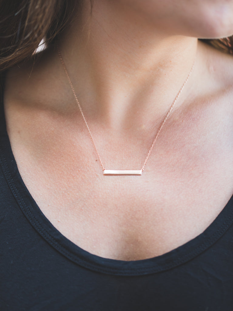 Rose Gold Layering Bar Necklace