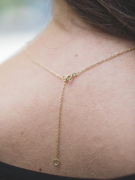 Large Yellow Gold Layering Bar Necklace