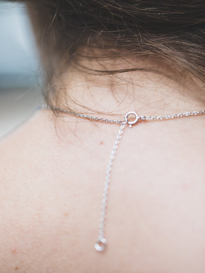 Small Silver Layering Bar Necklace