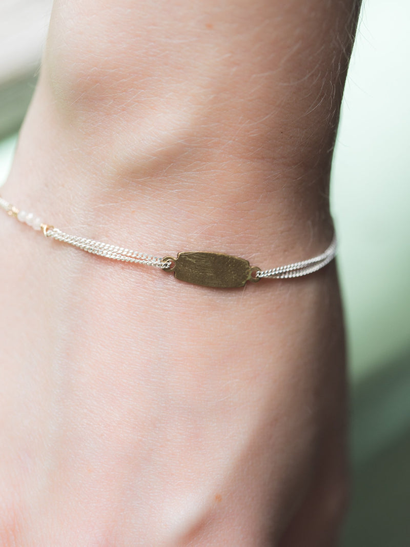 Little Somethin' Somethin' Bracelet in Brass