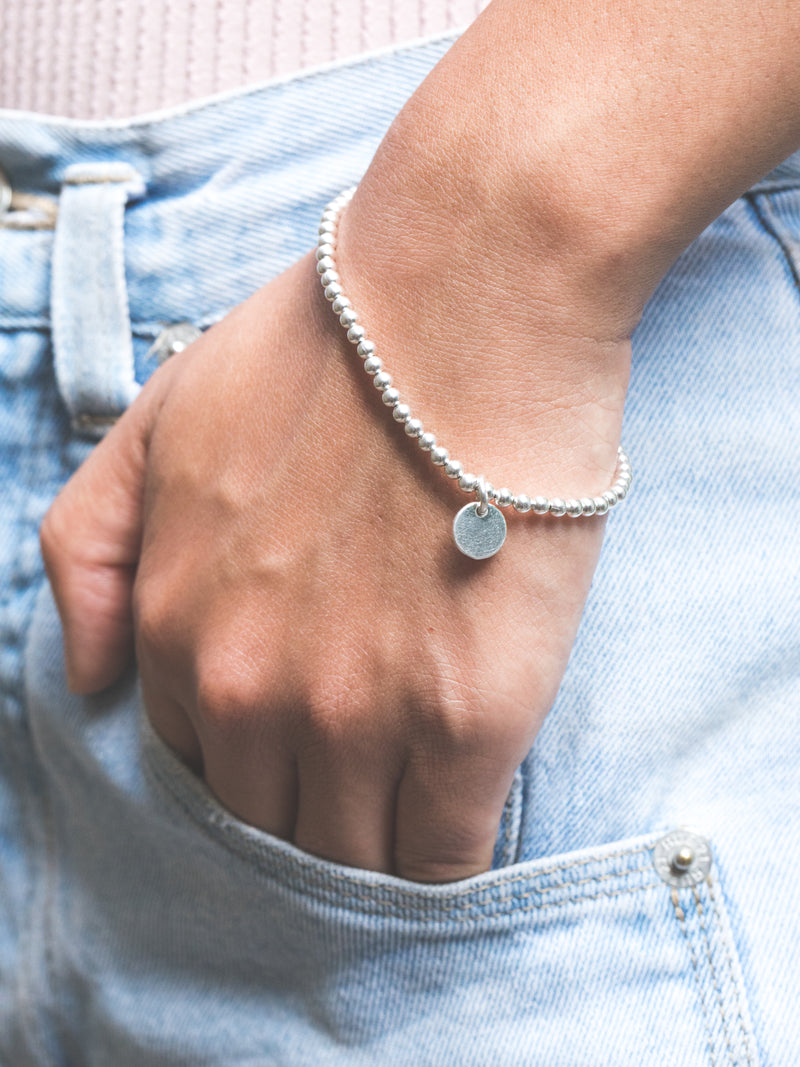 The Sterling Silver Ball Bracelet