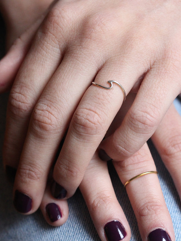 Wave Stacking Ring in Sterling Silver