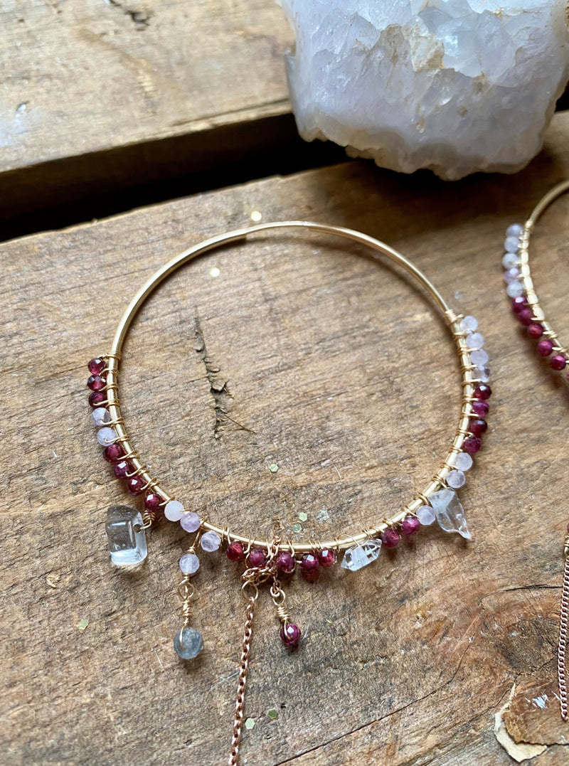 Tell Me Everything Garnet Asymmetry Hoops