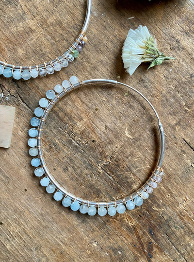 Sea to Sky Aquamarine Dream Hoops