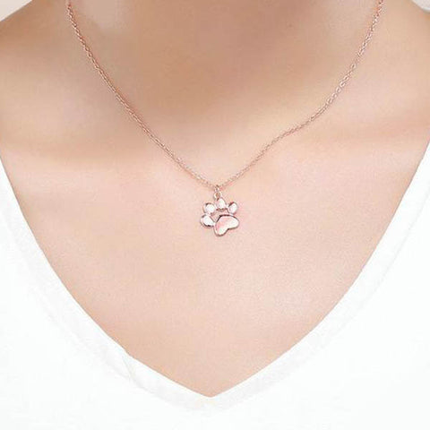 Collier en argent, Patte de Chat