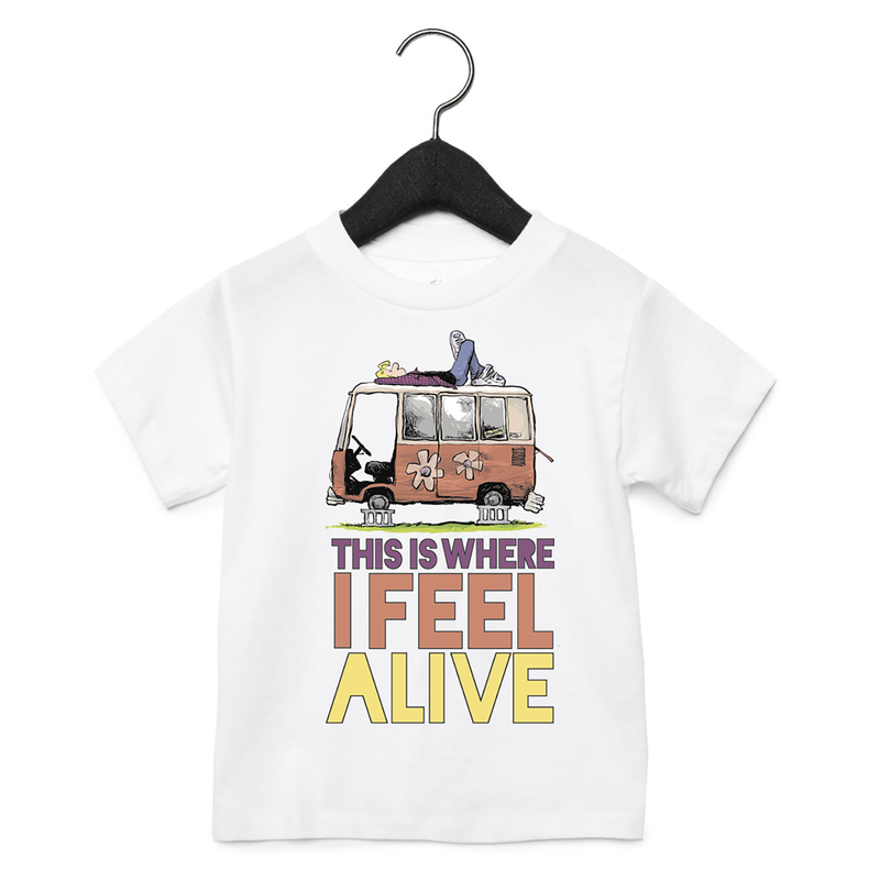 Zits Feel Alive Toddler T-Shirt White