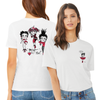 Betty Boop 'Red Betty' Women's Ringer T Shirt Pink/Red
