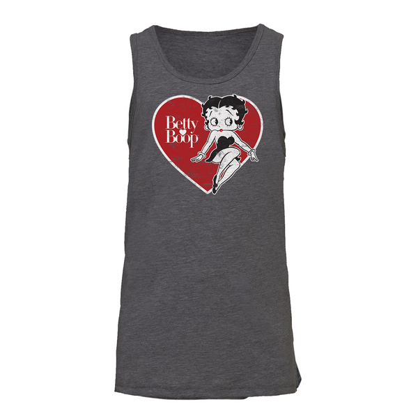 Betty Boop 'Big Heart Betty' Youth Tank Dark Heather