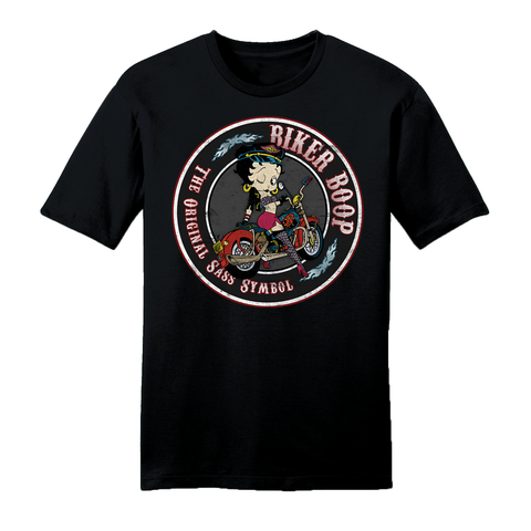 Betty Boop 'Red Betty' Ringer T Shirt Black/White