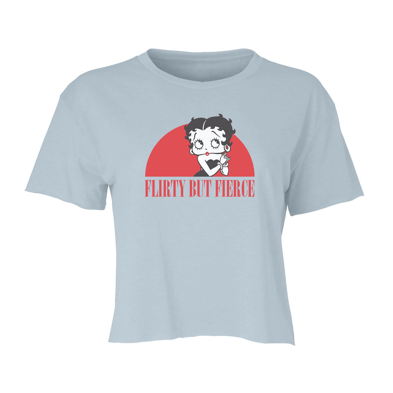 Big & Tall Betty Boop Flirty But Fierce Women's Crop Top