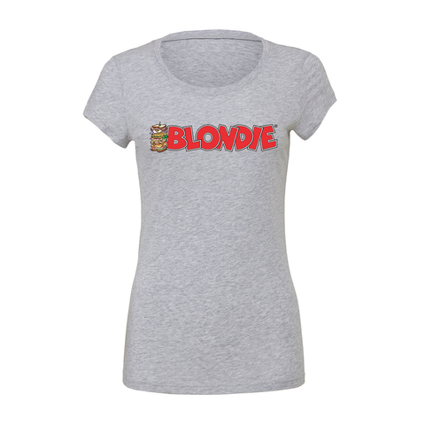 Blondie Sandwich Logo Heather Grey Unisex T-Shirt