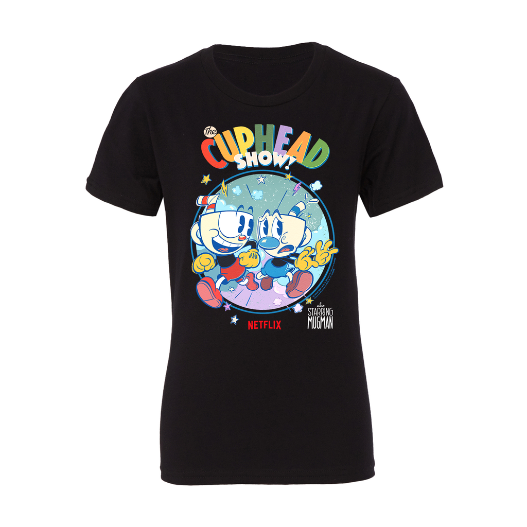 Cuphead Netflix Limited Edition Youth T-Shirt - Black