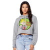 Dennis the Menace 'Classic Dennis' Crop Hoodie Grey