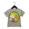 Dennis the Menace 'Menace' Kids' Baseball T Shirt Dark Heather/Black