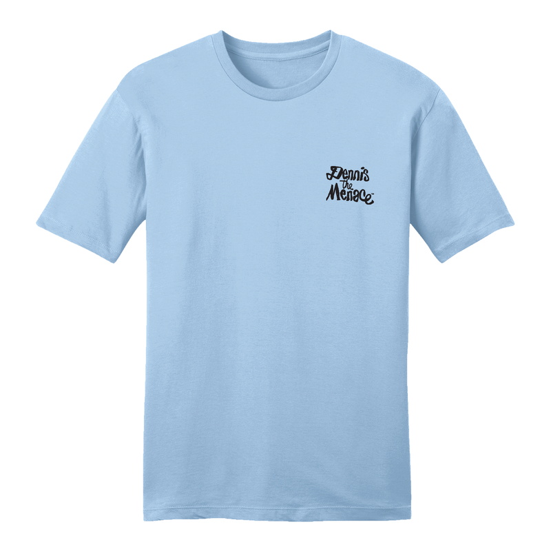 Dennis the Menace Embroidered Logo T Shirt Light Blue