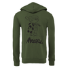 Big & Tall Dennis the Menace 'Menace' Zip Up Unisex Hoodie Military Green