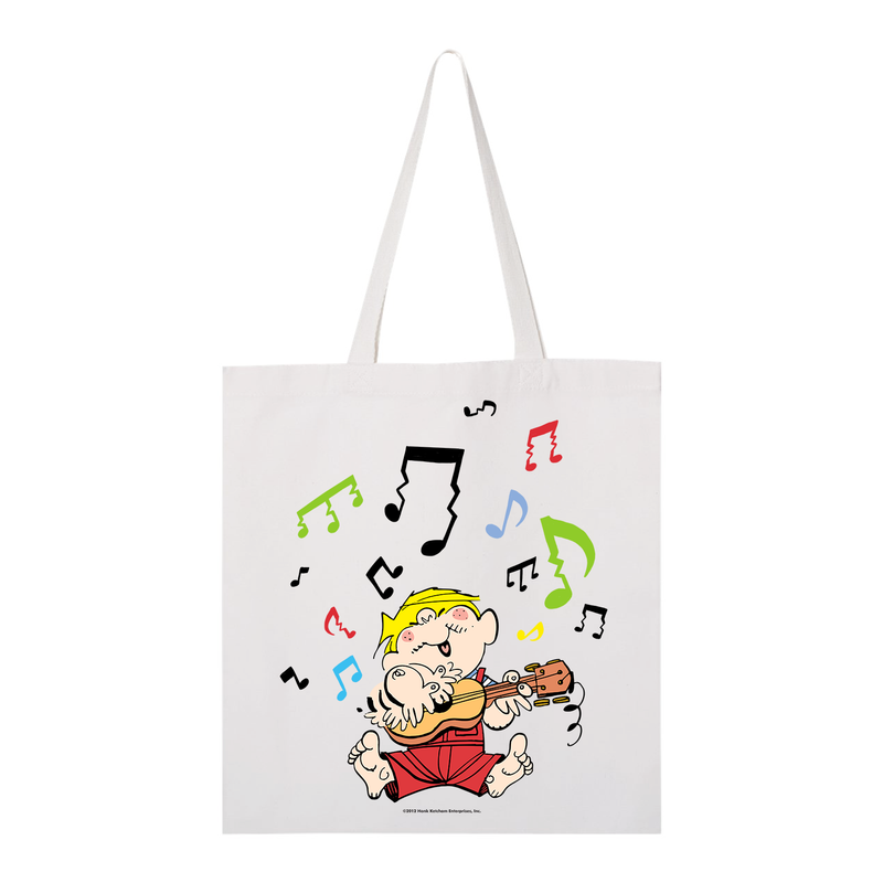 Dennis the Menace Musical Menace Tote Bag White