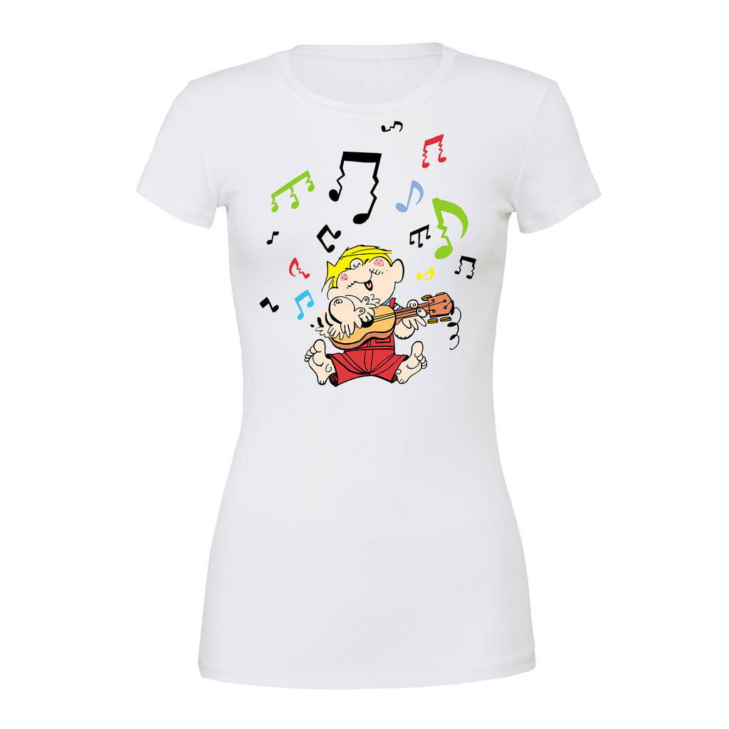 Dennis the Menace 'Musical Menace' Women's T Shirt White