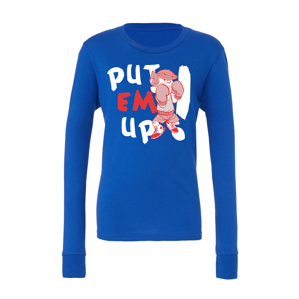 Dennis the Menace 'Put Em Up' Youth Long Sleeved T Shirt Royal Blue