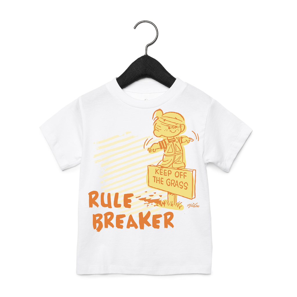 Dennis the Menace 'Rule Breaker' Toddler T Shirt White