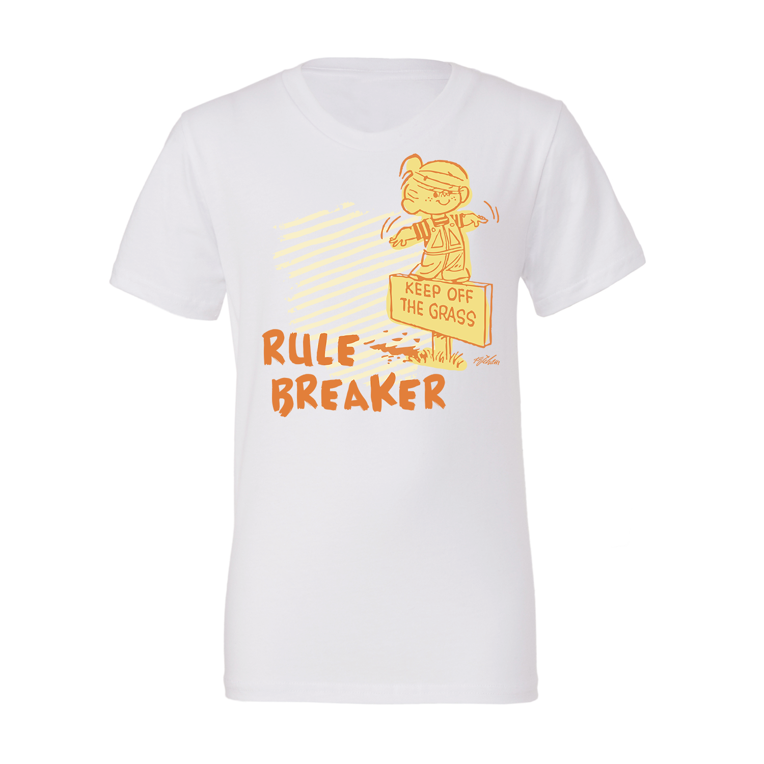 Dennis the Menace 'Rule Breaker' Youth T Shirt White