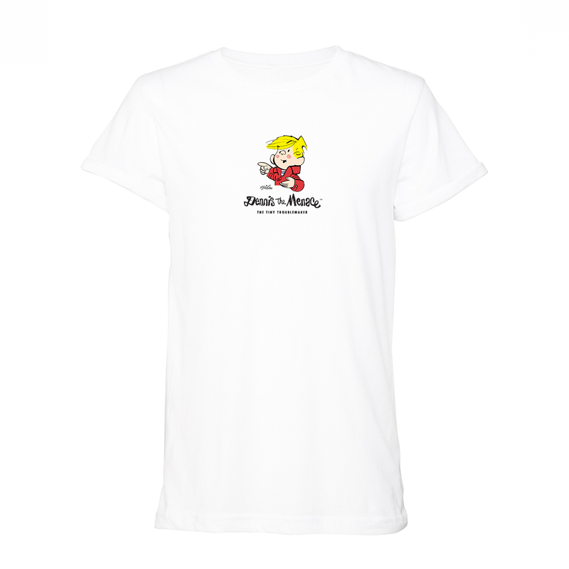 Dennis the Menace Tiny Troublemaker Unisex T-Shirt White