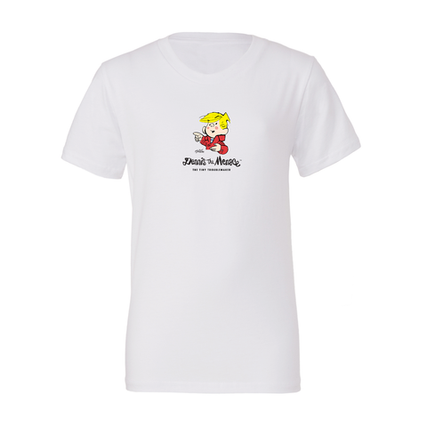 Dennis the Menace 'Classic Dennis' Youth T Shirt Heather Grey