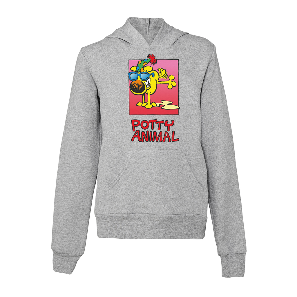 Grimmy Kid's Potty Animal Pullover Hoodie