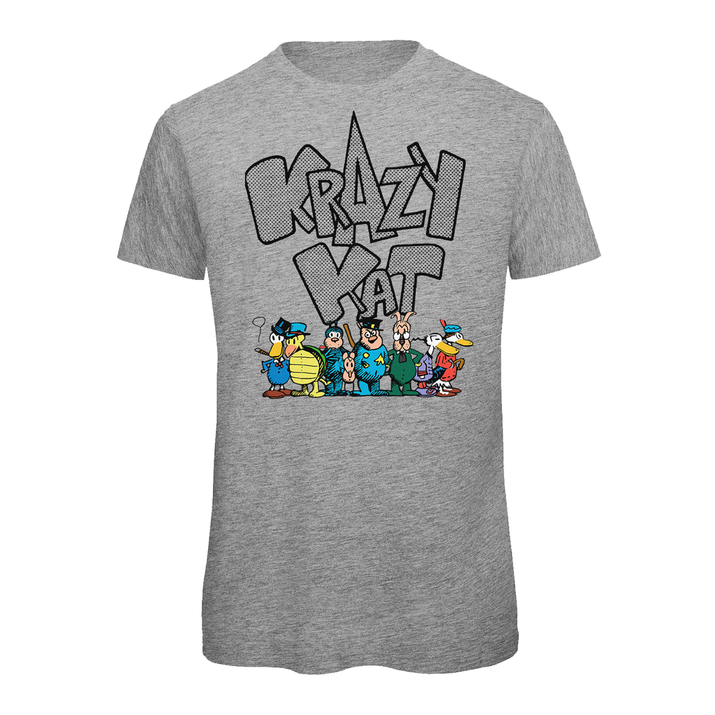 Big & Tall Krazy Kat Full Group T-Shirt Heather Grey