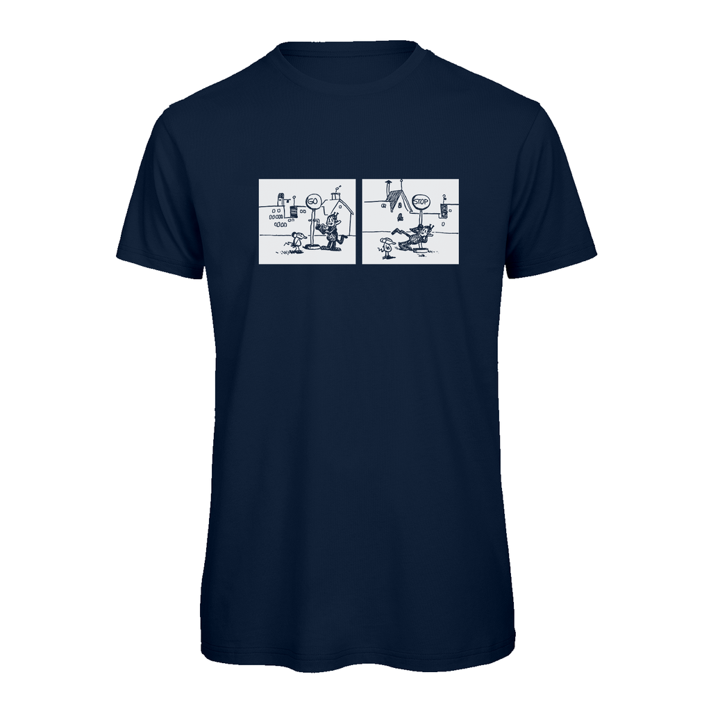 Big & Tall Krazy Kat Go-Stop T-Shirt Navy