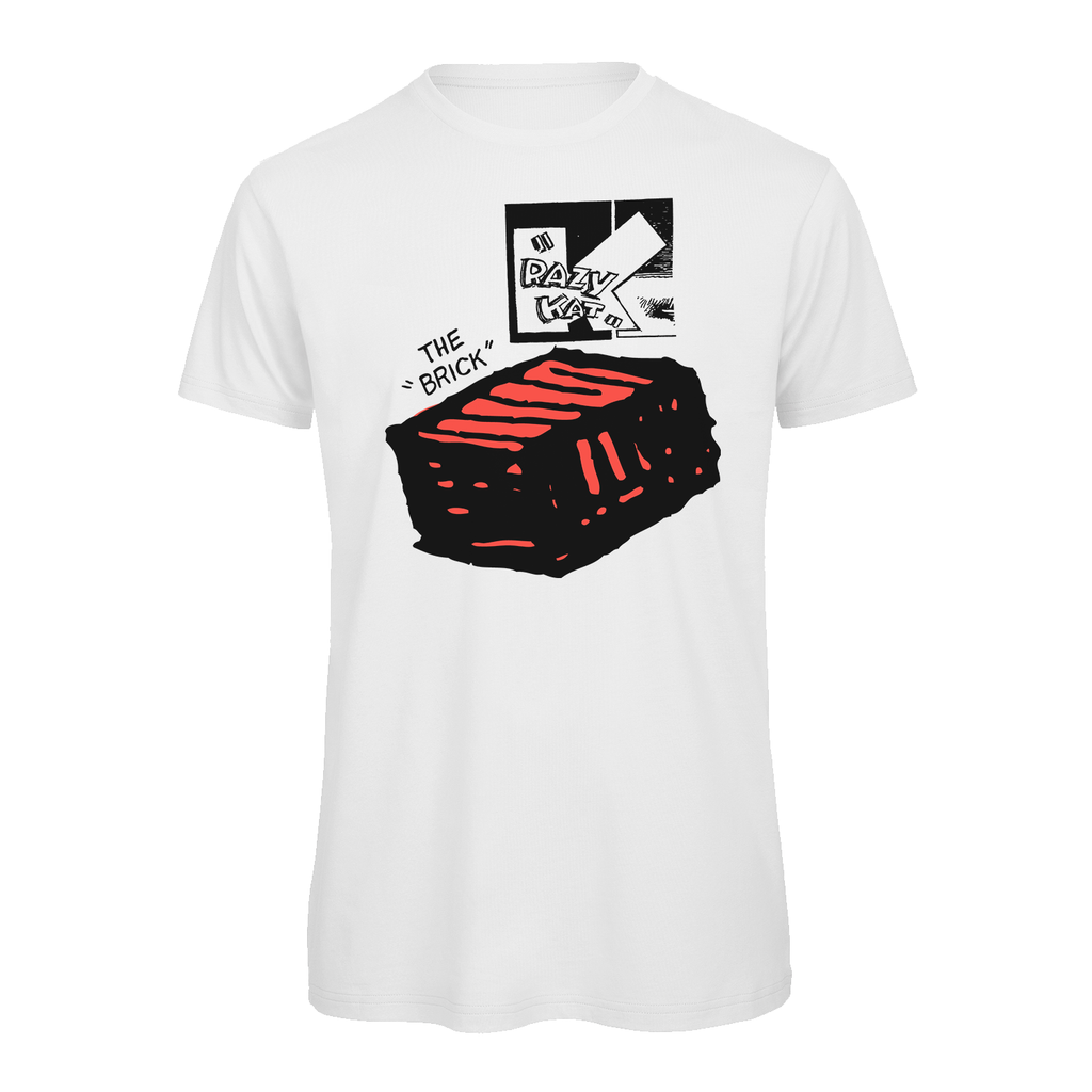 Krazy Kat The Brick T-Shirt White
