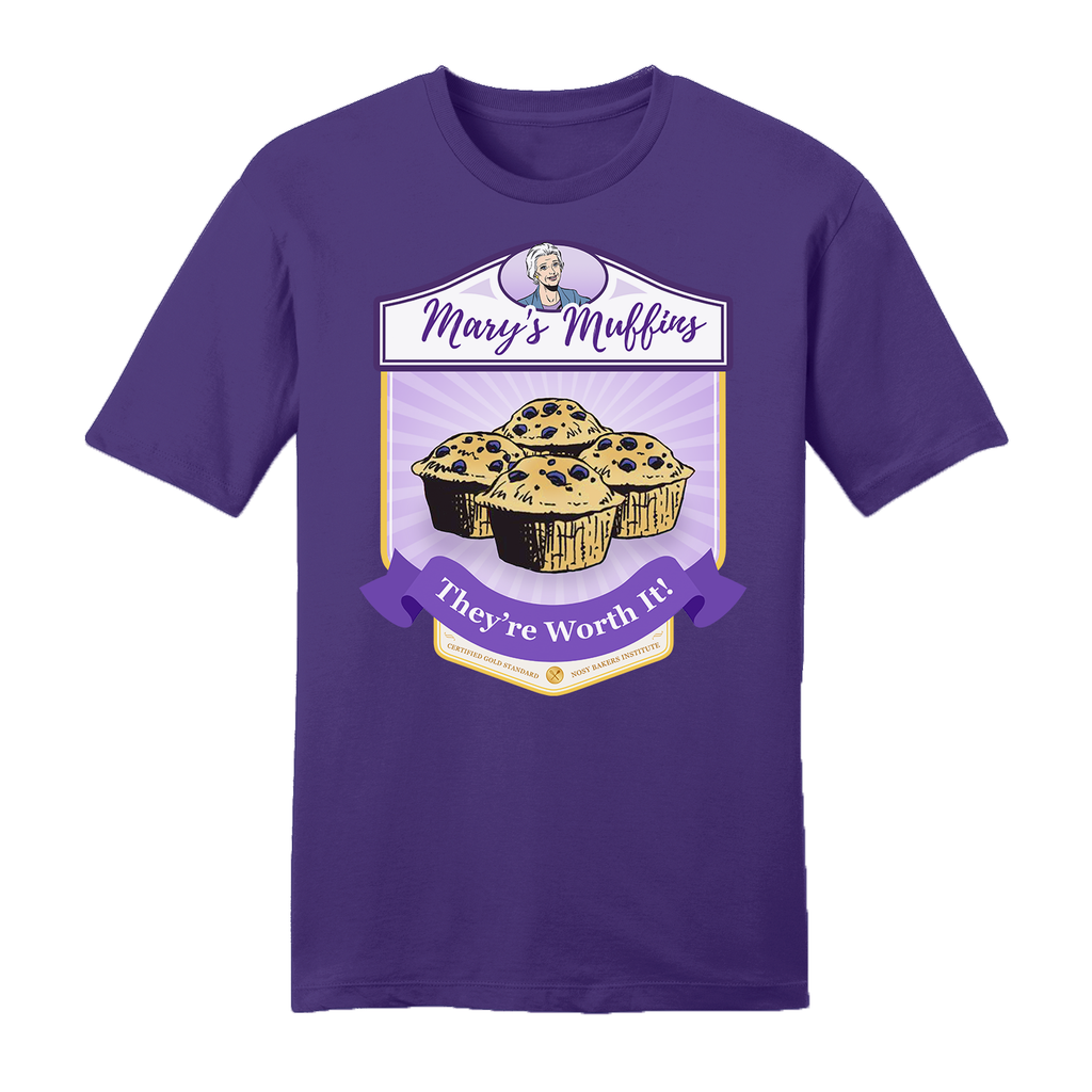 Big & Tall Mary Worth Mary's Muffins Purple Unisex T-Shirt