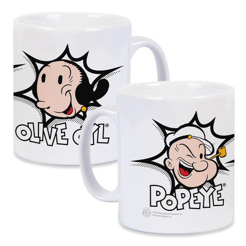 Popeye Loves Olive Oyl Pink Kid's Tee