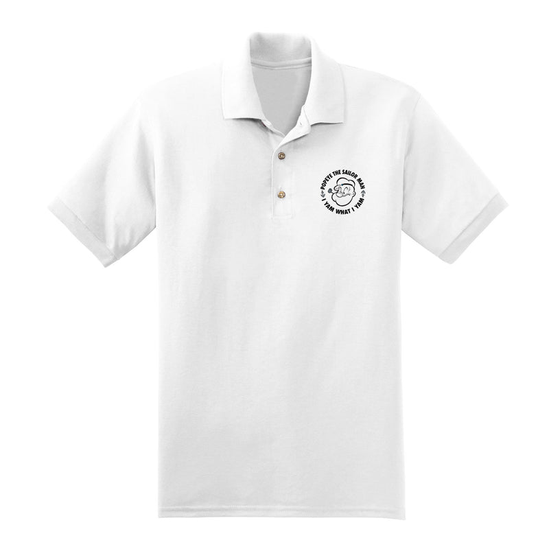 Big & Tall Popeye 'I Yam What I Yam' Polo Shirt - White