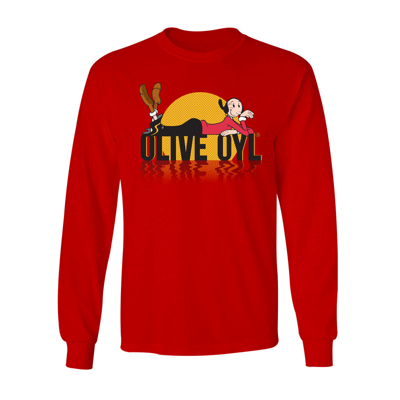 Big & Tall Olive Oyl Sunset Long Sleeve T-Shirt