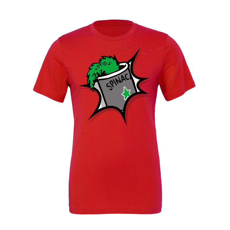 Popeye Spinach Explosion Red Unisex Tee