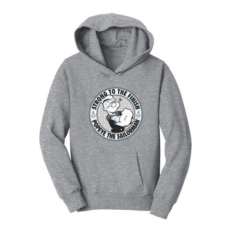 Popeye Strong to the Finish Kids' Hoodie