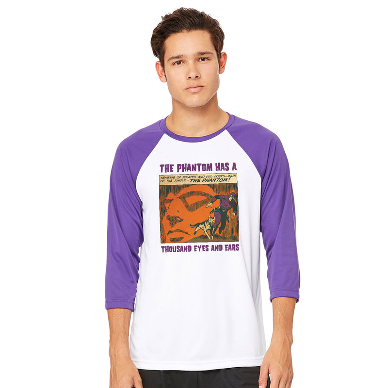 The Phantom Thousand Eyes Baseball T-Shirt - White/Purple
