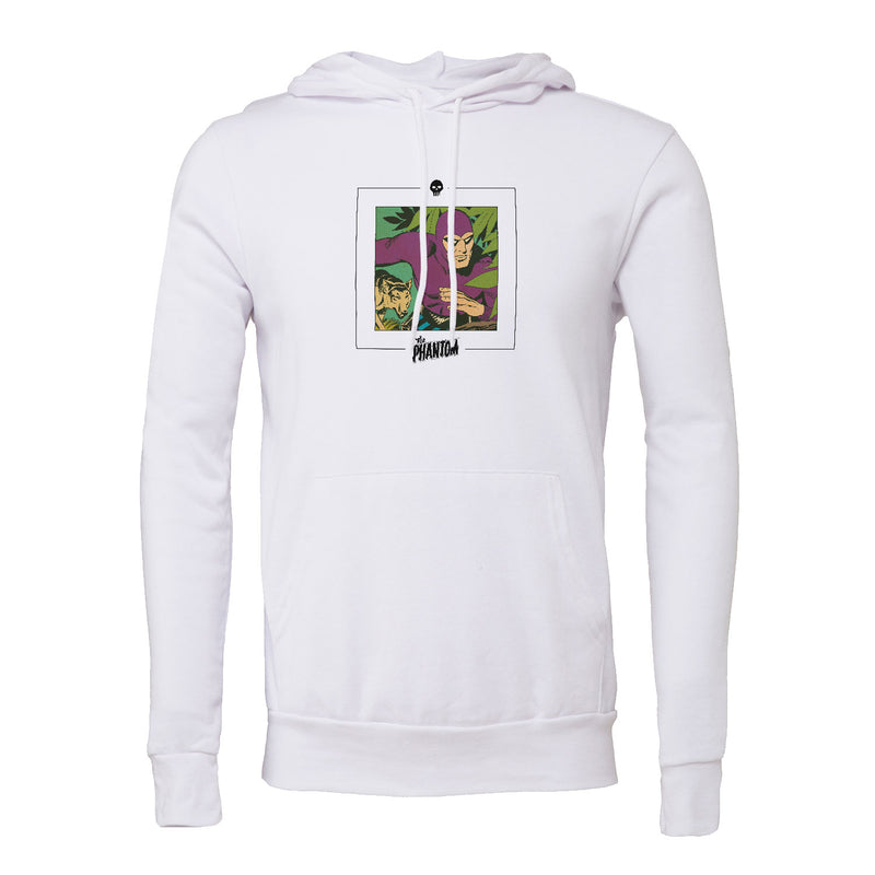 Big & Tall The Phantom Wolf Unisex Hoodie White