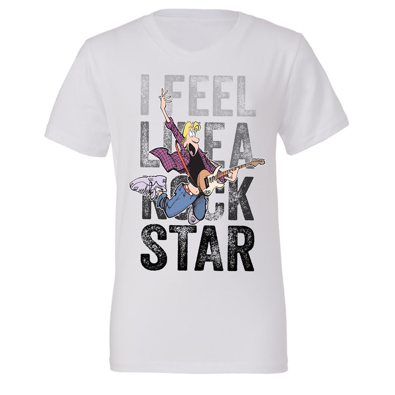 Big & Tall Zits I Feel Like A Rock Star T-Shirt White