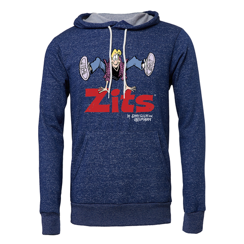 Zits Group Hoodie Heather Grey