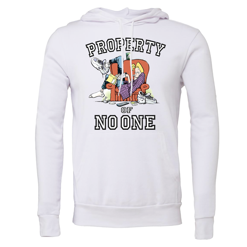 Zits Property Of No One Hoodie White