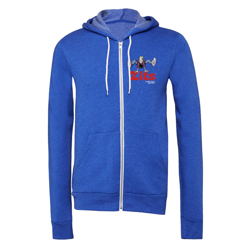 Big & Tall Zits Jump Zip Up Hoodie Royal Blue