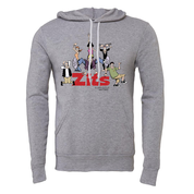 Big & Tall Zits Group Hoodie Heather Grey