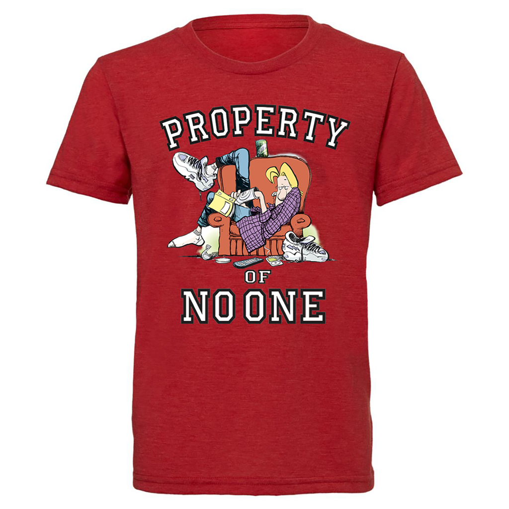 Big & Tall Zits Property Of No One T-Shirt Red