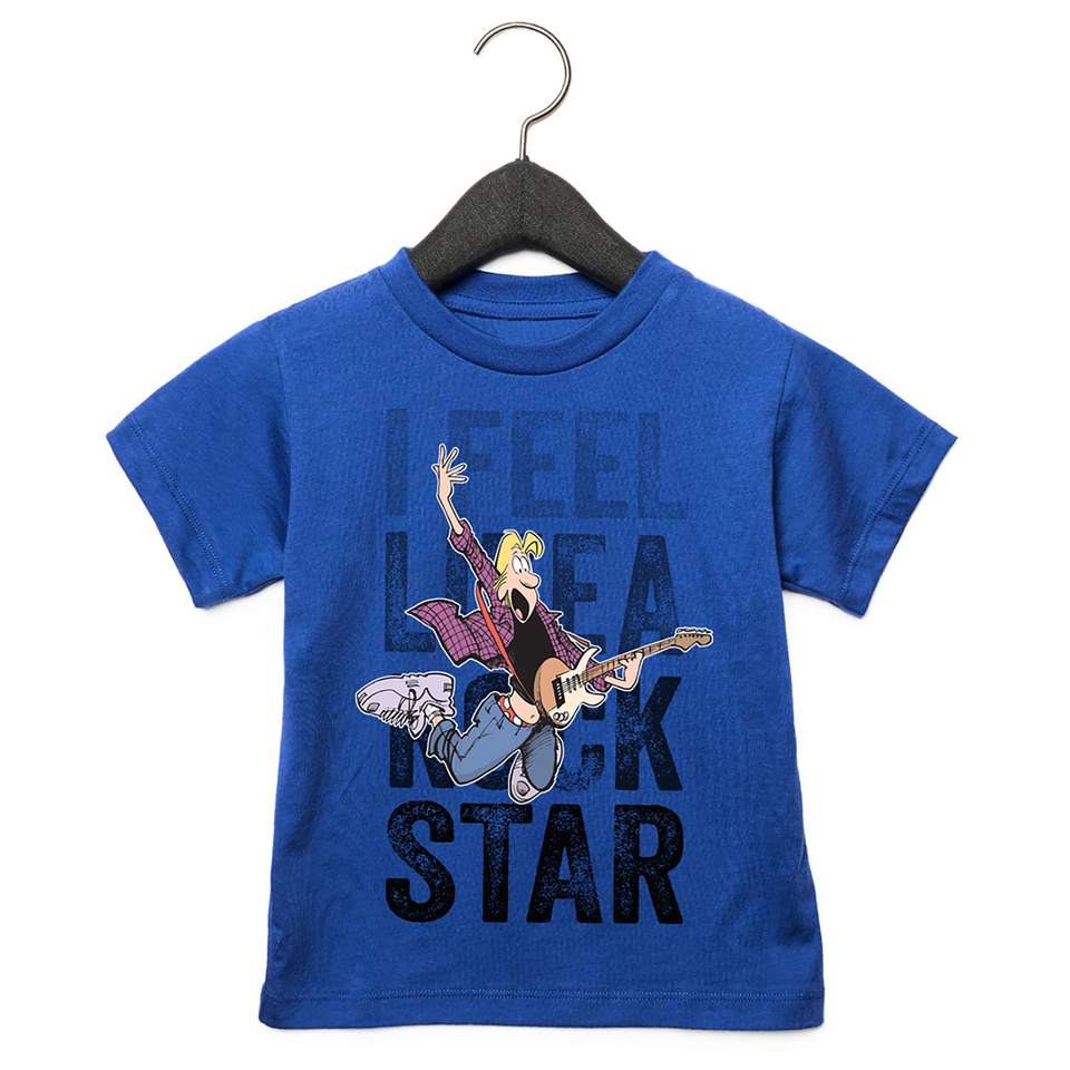 Zits I Feel Like A Rock Star Toddler T-Shirt Royal Blue
