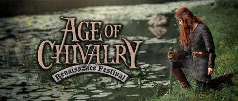 Age of Chivalry Renaissance Festival: $26.00 value Pair of tickets  Sunday, Oct. 14th, 2018 (SUNDAY ADMISSIONS) AT SUNSET PARK! ( Tickets are mailed unless will call is arranged)
