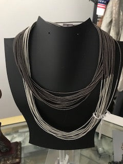 Two toned Grey Necklace
